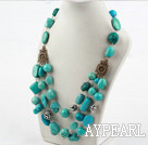 Wholesale New Design Three Layer Assorted Turquoise Necklace