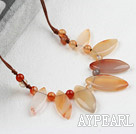 Wholesale Simple Style Horse Eye Shape Agate Necklace