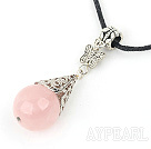 lovely 18mm rose quartze necklace/ pendant with extendable chain