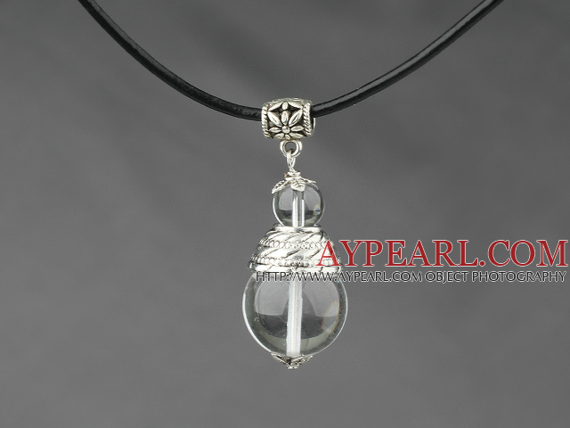 Design round white crystal pendant necklace classic design round white crystal pendant necklace mozeypictures Gallery
