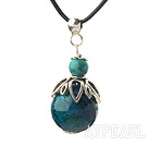 Classic Design Phoenix Stone Pendant Necklace with Adjustable Chain