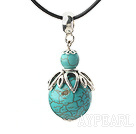 Classic Design Turquoise Pendant Necklace with Adjustable Chain