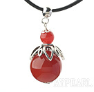 Classic Design Carnelian Pendant Necklace with Adjustable Chain