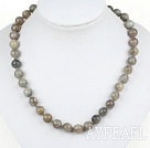 Fashion 10Mm Flashing Stone Beaded Strand Necklace With Peanut Magnetic Clasp