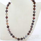 Wholesale 10mm A Grade Round Persian Agate Beaded Necklace