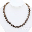 Wholesale Classic Design 10mm Round Natural Smoky Quartz Beaded Necklace