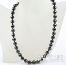 Classic Design 10mm Round Tungsten Steel Stone Beaded Necklace