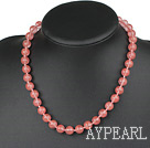 Wholesale Classic Design 10mm Round Cherry Quartz Beaded Necklace