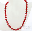 Classic Design 10mm Round Carnelian Agate Beaded Necklace