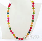 Classic Design 10mm ronde bonbon couleur cristal perlé collier multi