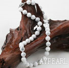 Wholesale Classic Design 10mm Round Howlite Beaded Necklace