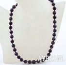 Wholesale Classic Design 10mm Round Faceted Amethyst Beaded Necklace