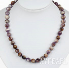 Wholesale Classic Design 10mm Round Assorted Multi Color Amethyst Beaded Necklace