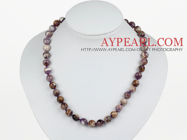 Classic Design 10mm Assorted Multi Color Amethyst Perlen Halskette