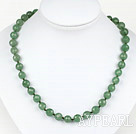 Classic Design 10mm Round Faceted Aventurine Beaded Necklace
