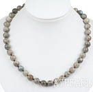 Wholesale Classic Design 10mm Round Faceted Flashing Stone Beaded Necklace