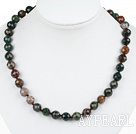 Wholesale Classic Design 10mm Round Indian Agate Beaded Necklace