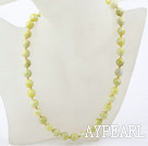 Classic Design 10mm Round Lemon Stone Beaded Necklace