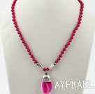 Wholesale Rosy Red Agate Necklace with Lobster Clasp