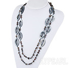 e perle shell crystal necklace krystall kjede