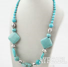 Wholesale Single Strand Assorted Turquoise Necklace with Moonlight Clasp