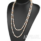 Wholesale Long Style White Pink Purple Color Freshwater Pearl Beaded Necklace
