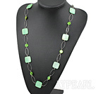 Wholesale fahsion long style party jewerly green shell necklace