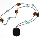 Classic Design Faceted Opal Crystal Graduated Necklace with Moonlight Clasp