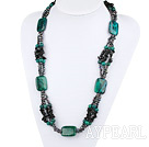 Wholesale Big Style Assorted Gray Freshwater Pearl and Phoenix and Obsidian Necklace