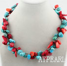 Wholesale Assorted Red Coral and Turquoise Necklace