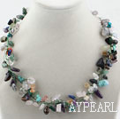 Wholesale Assorted Multi Crystal and Multi Stone Necklace