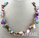 Assorted Multi Color Shell Multi Color Pearl Necklace