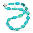 18mm oval spider stone necklace with moonlight clasp