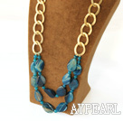 e mit golden color metal chain goldene Farbe Metallkette
