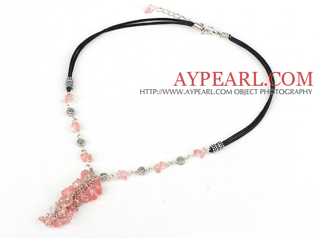 lovely quartze necklace with extendable chain