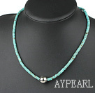 17.5 inches flat round turquoise necklace
