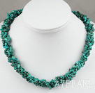 6mm natural turquoise multi strand necklace