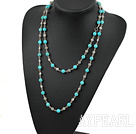 47 inches 8mm turquoise long style necklace