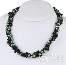 rl and agate beaded necklace perle og agat beaded halskjede