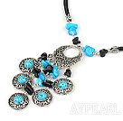 Wholesale peacock jewelry gate turquoise necklace with extendable chain