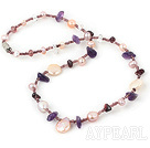 18 inches single strand pearl crystal necklace with magnetic clasp