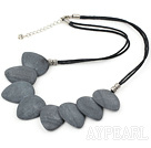 Wholesale 20*25mm grinding stone necklace with lobster clasp