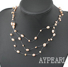 Wholesale fancy natural fresh water pearl necklace with lobster clasp