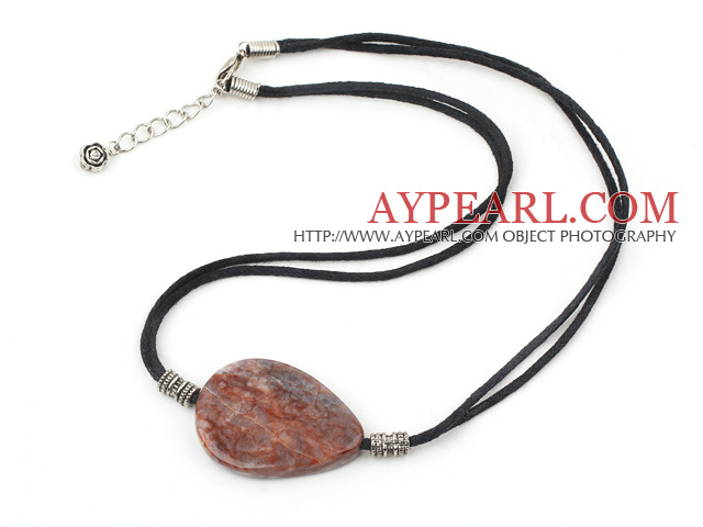 Brazil agate pendant necklace with extendable chain