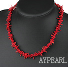 17.5 inches 5-6mm coral necklace with lobster clasp