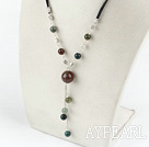 India agate necklace with extendable chain