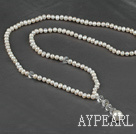 Wholesale double double strand natural white pearl crystal necklace
