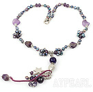amethyst necklace ametist colier