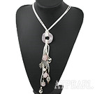 Wholesale 19.5 inches pearl and rose quartz necklace with lobster clasp