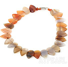Wholesale 17.5 inches agate necklace with heart shaped toggle clasp